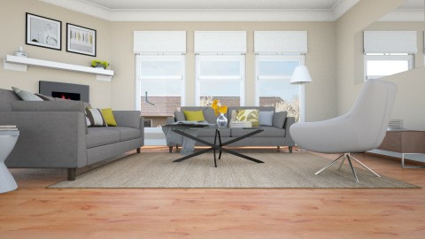 Simple - Living room - by color blind