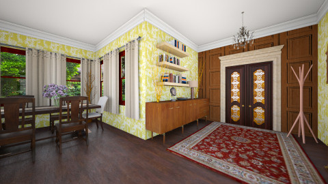 Oak Park Entryway - Vintage - Living room - by manicpop