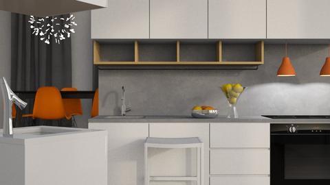 Orange Time - Modern - Kitchen - by XiraFizade