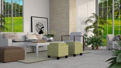 Natural Sunroom - Minimal - Living room - by millerfam