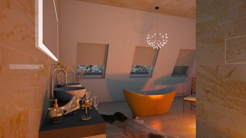 Gold - Bathroom - by ZuzanaDesign