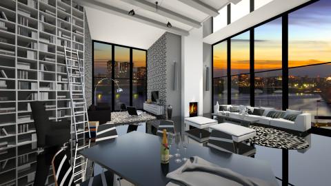 black and white home - Modern - by Senia N