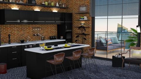 M_ Urban L Kitchen - Kitchen - by milyca8