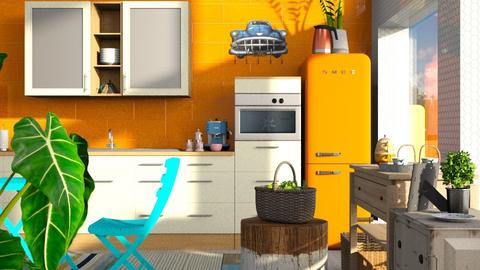 Orange - Kitchen - by ZuzanaDesign