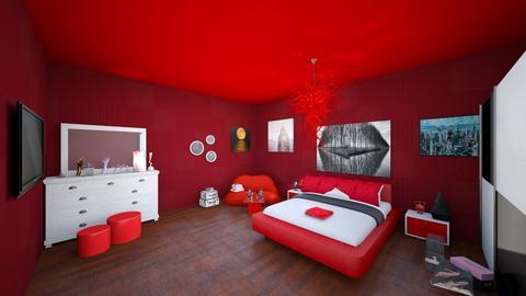 red bedroom - by Badgalriri
