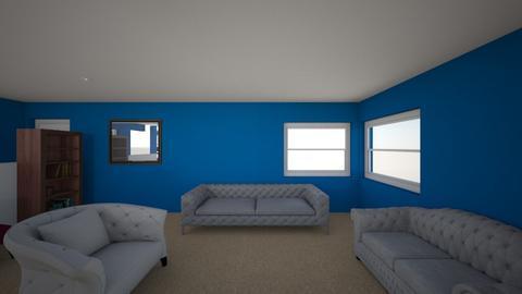 lv rm paint r blue - Living room - by Vivianrog