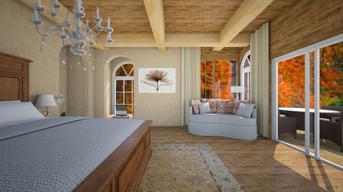 Rustic Bedroom - by Cassandra Cafone Wright