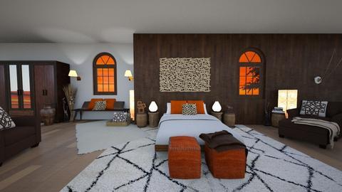Africa inspired - Bedroom - by waibelmackenzie