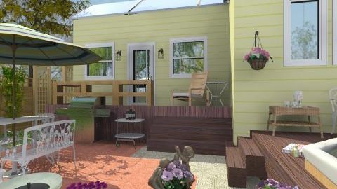 Smal Backyard with Spa - Classic - Garden - by Bibiche