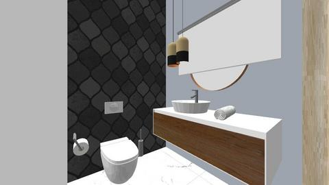 mala lazienka - Bathroom - by joannanm