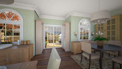 green kitchen da - Dining room - by eifjkdsade