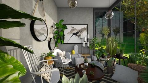Garden Room - Eclectic - Living room - by camilla_saurus