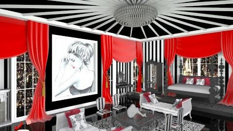 Striped Boudoir - Glamour - Bedroom - by crosette