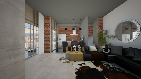 modern apartment - Living room - by Joseph Espinoza