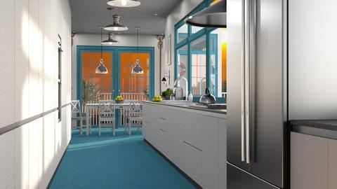 Nautical Galley Kitchen - Kitchen - by GraceKathryn