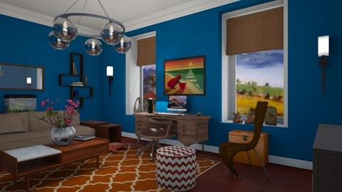 Royal and rust - Living room - by The quiet designer