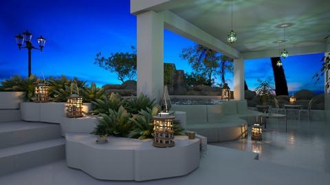 Villa Blue Lagoon Terrace and pool - by ZsuzsannaCs
