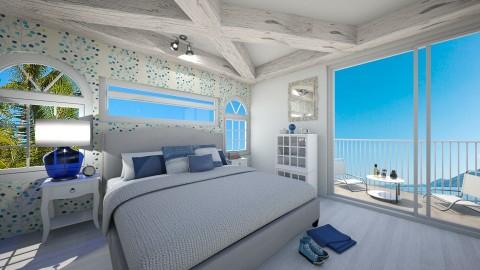 Blue Bedroom  - Bedroom - by TasiaClarke