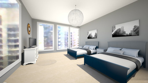 glass hotel room - Vintage - Bedroom - by mrrhoads23