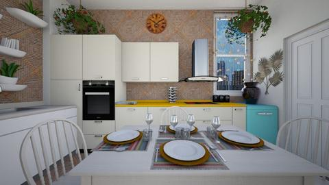 Modern Bohemian Kitchen - Kitchen - by SammyJPili