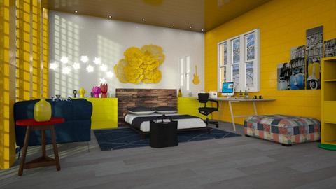 Teen Bedroom - by jasmin_jasmin
