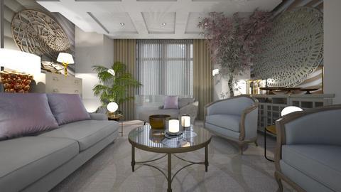 Template Baywindow Room - Living room - by ana111