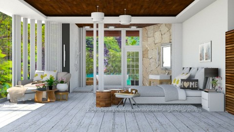 Modern Wood Bedroom - Modern - Bedroom - by ayudewi