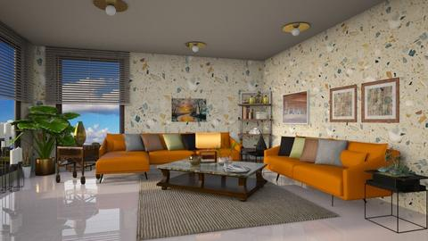 Barton in orange - Modern - Living room - by ZsuzsannaCs