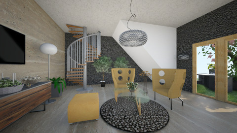 OkS - Retro - Living room - by Saj Trinaest