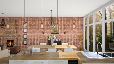 Grecia - Rustic - Dining room - by IkkaHe