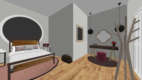 splash of pink  - Feminine - Bedroom - by valarca22