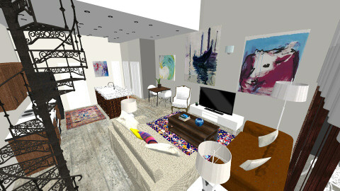 ST Loft Living Room - Eclectic - Living room - by natalielsherman