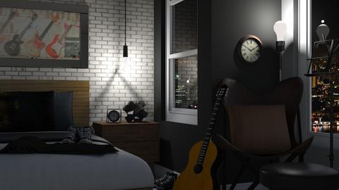 Rock 'N Roll - Bedroom - by juliavalerie