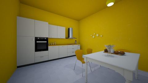 Yellow kitchen - Kitchen - by Mrkvi