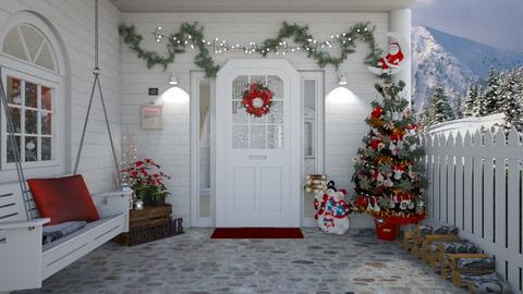 Christmas Porch - Garden - by creato