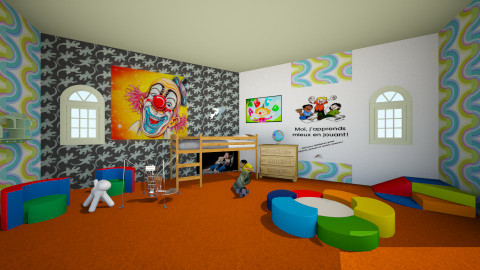 HI HI HI - Eclectic - Kids room - by Orionaute