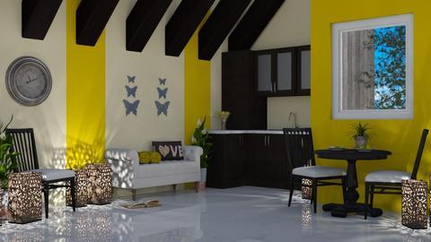 Yellow Mini Kitchen - Modern - Bathroom - by millerfam