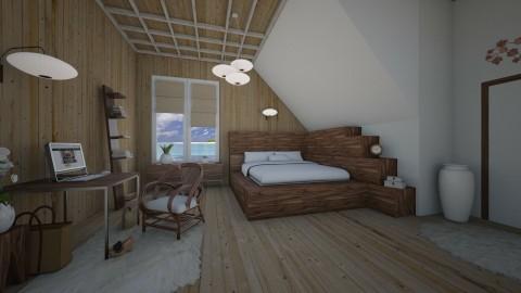 Natural Minimalist - Bedroom - by Lackew