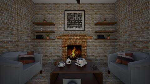 Fireplace area - Rustic - by Caseydia