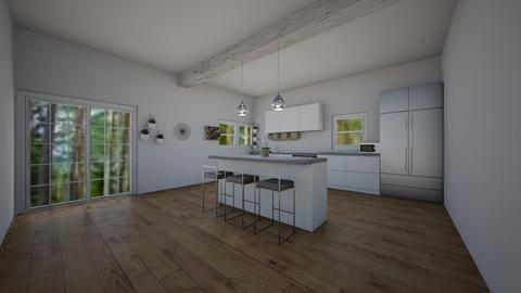White and Grey - Modern - Kitchen - by mermaid girl2004