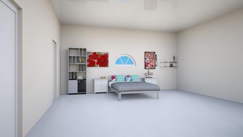 modern teen girl room - by wondergirl707