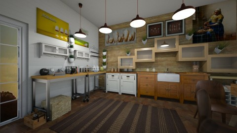 cooks kitchen old world - Rustic - Kitchen - by kla
