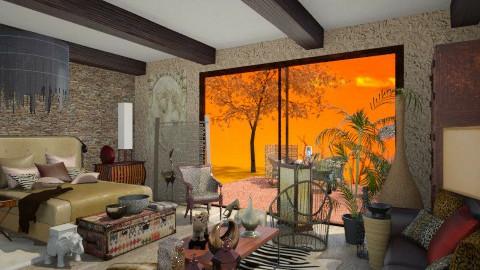SAFARI - Rustic - Bedroom - by Cristina Stramaglia