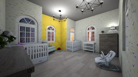 baby nursery  - Bedroom - by roomdesigner1245