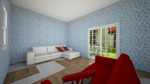 white or  red - Modern - Living room - by pilav123