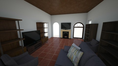 Great Room Draft 1 - Classic - Living room - by Allen666666