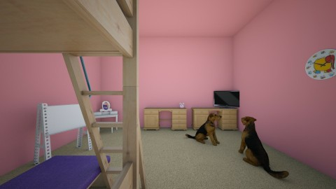 twins room - Classic - Kids room - by loulou11