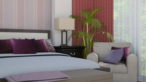 Bedroom Back 2 Lilac V4 - Minimal - Bedroom - by Ejad Shukri