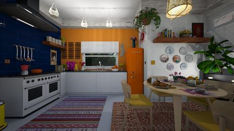 Bohemian Kitchen - by Themis Aline Calcavecchia