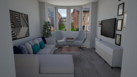 Woonkamer hoekbank voorin - Modern - Living room - by WiebeSB